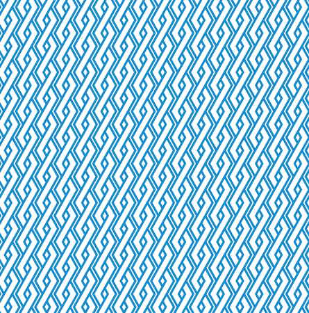 interweave: Blue abstract geometric seamless pattern with interweave lines. Vector vertical ornament wallpaper. Endless decorative background. Light ornate backdrop with rhombs.