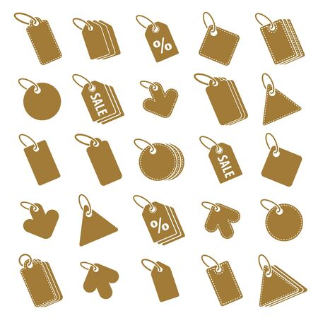 simplistic: Tag icons isolated on white background vector set, retail theme simplistic symbols vector collections. Illustration