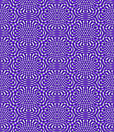 Regular colorful endless pattern with intertwine three-dimensional figures, continuous illusory geometric background, clear EPS10.