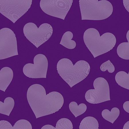 valentine s day background: Valentine's day vector conceptual art backdrop, loving hearts. Love theme seamless background, beautiful valentine. Illustration