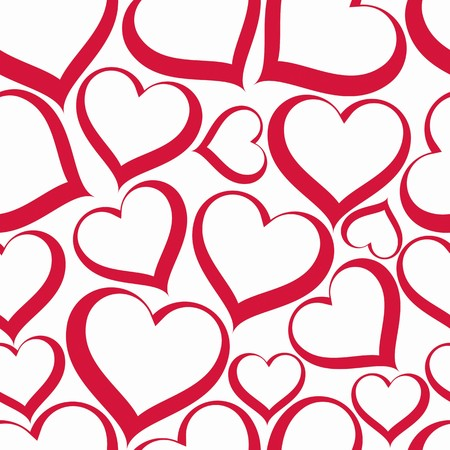 loving: Valentine's day vector conceptual art backdrop, loving hearts. Love theme seamless background, beautiful valentine.
