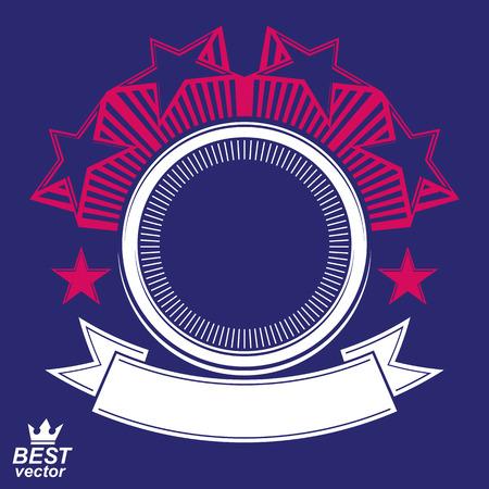 Vector stylized corporate design element, celebrative stars web emblem. Union and solidarity theme – eps8 heraldic object. Illustration