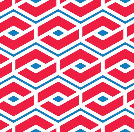 Motif sans soudure géométrique coloré, vecteur symétrique sans fin avec des lignes d'entrelacement. Couverture d'épissage de concept abstrait. Vecteurs