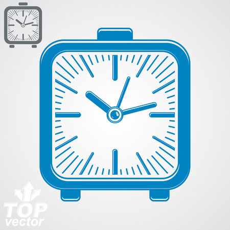 interim: Vector elegant table clock, simple version included. Eps 8 high quality vector illustration. Time theme web design element.