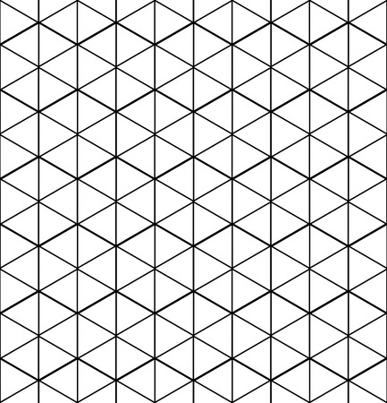 intertwine: Monochrome abstract textured geometric seamless pattern with geometric figures. Vector black and white textile backdrop.