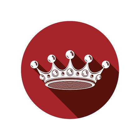 threedimensional: Royal design element, regal icon. Stylish majestic 3d crown, luxury coronet illustration. Imperial three-dimensional symbol. Illustration