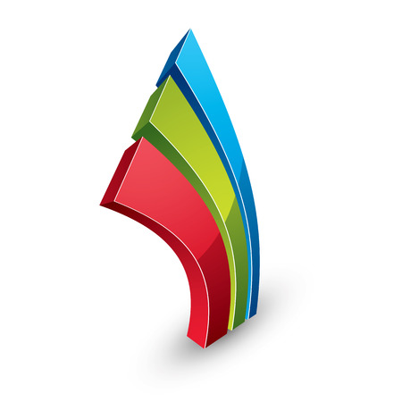 graphical user interface: 3d abstract icon, vector business graphic design element. Innovation conceptual symbol. Illustration