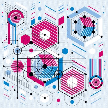 Système mécanique, vecteur dessin technique avec des pièces géométriques du mécanisme. projet industriel futuriste peut être utilisé dans la conception web et comme papier peint. Banque d'images - 51891773