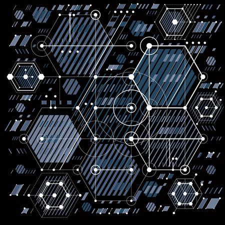 piano tecnico, progetto di ingegneria. disegno vettoriale del sistema industriale con le parti meccaniche, per l'uso in grafica e web design.