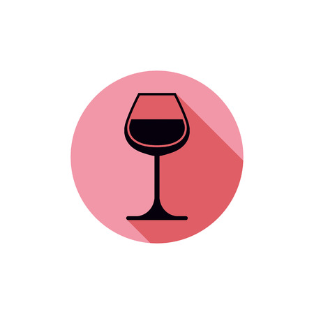 revelry: Sophisticated wine goblet, stylish alcohol theme illustration. Classic wineglass, romantic rendezvous idea.