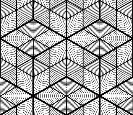 twine: Endless monochrome symmetric pattern, graphic design. Geometric intertwine optical composition.