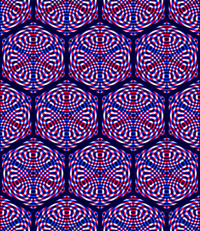 Graphic seamless abstract pattern, regular geometric colorful 3d background. Contrast ornament, EPS10 transparent backdrop. Illustration
