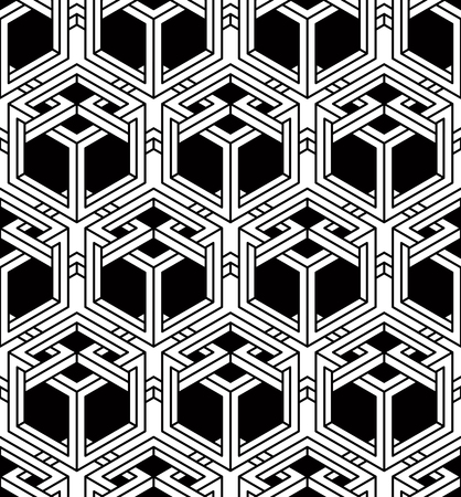 Contemporary abstract vector endless background, three-dimensional repeated pattern. Decorative graphic entwine ornament.