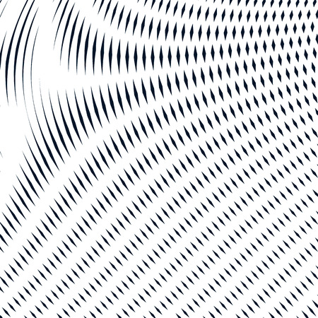 moire: Moire pattern, monochrome background with trance effect. Optical illusion, creative black and white graphic vector backdrop.