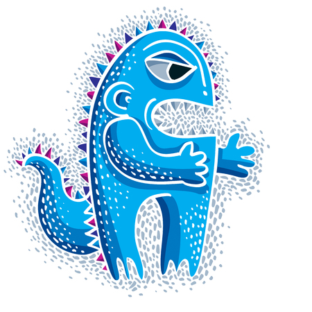 toys clipart: Comic character, vector funny alien monster. Emotional expression idea graphic symbol, design element.