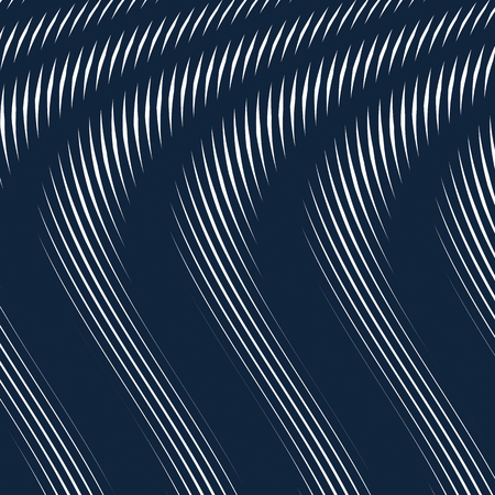 moire: Moire pattern, op art vector background. Hypnotic backdrop with geometric black lines. Abstract tiling. Illustration