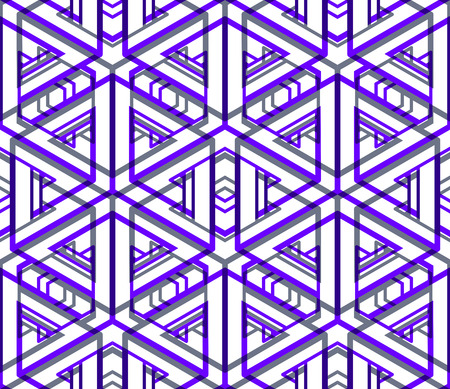 superimpose: Colored abstract interweave geometric seamless pattern, EPS10. Bright illusory backdrop with three-dimensional intertwine figures. Graphic contemporary covering.