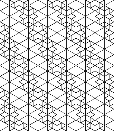 covering: Black and white abstract textured geometric seamless pattern. Vector contrast textile backdrop with cubes and squares. Graphic contemporary futuristic covering.