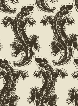 view wallpaper: Vector lizards wrapping paper, seamless pattern with reptiles, art zoology wallpaper. Stylized lizards top view. Illustration