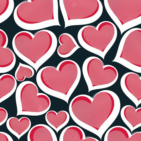 loving: Valentine�s day vector conceptual art backdrop, loving hearts. Love theme seamless background, beautiful valentine. Illustration