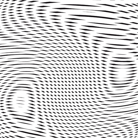 hypnotherapy: Moire pattern, op art vector background. Hypnotic backdrop with geometric black lines. Abstract tiling. Illustration