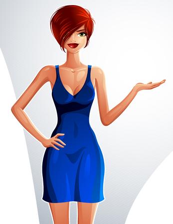 redhair: Attractive businesswoman full body portrait.