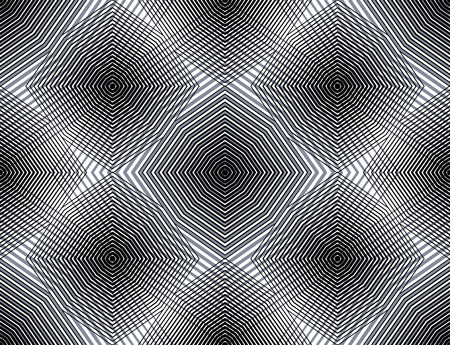 covering: Continuous vector pattern with graphic lines, decorative abstract background with overlay shapes. Black and white ornamental seamless transparent backdrop, can be used for design.