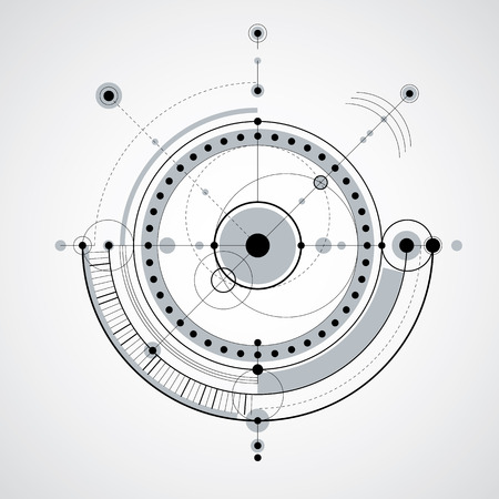 Vector engineering technological background, futuristic technical plan, black and white mechanism. Mechanical scheme, abstract industrial design can be used as website background.