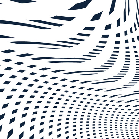 visual effects: Geometric background created with moire technique. Vector contrast lined tiling with visual effects.