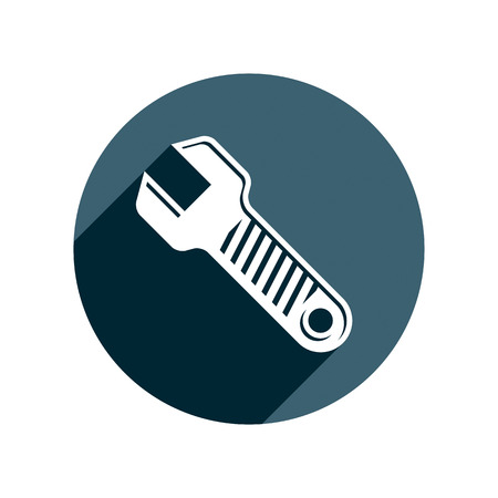 work tool: 3d wrench detailed vector illustration. Work tool, three-dimensional spanner. Repair instrument icon, best for use in advertising and design.