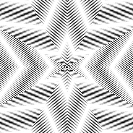 trance: Moire pattern, monochrome background with trance effect. Optical illusion, creative black and white vector graphic backdrop. Illustration