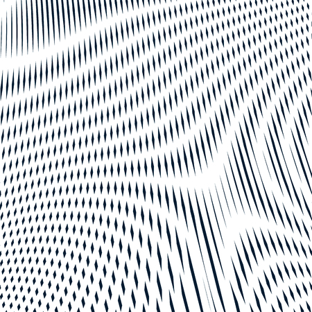 trance: Illusive background with black lines, moire style. Contrast geometric trance pattern, vector optical backdrop.