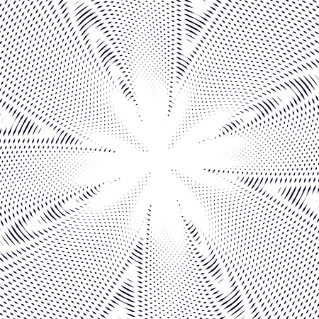 hypnotherapy: Moire pattern, op art background. Hypnotic backdrop with geometric black lines. Abstract vector tiling.