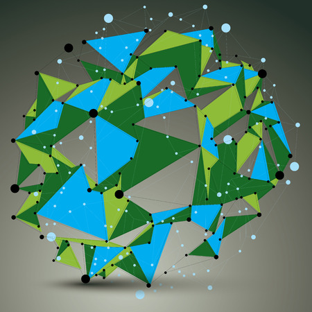 node: Geometric bright polygonal structure with lines mesh, colorful vector modern lace science and technology element, node.