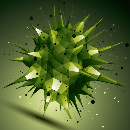 complicated: Colorful vector complicated 3d figure, modern digital technology style form. Abstract unusual background.