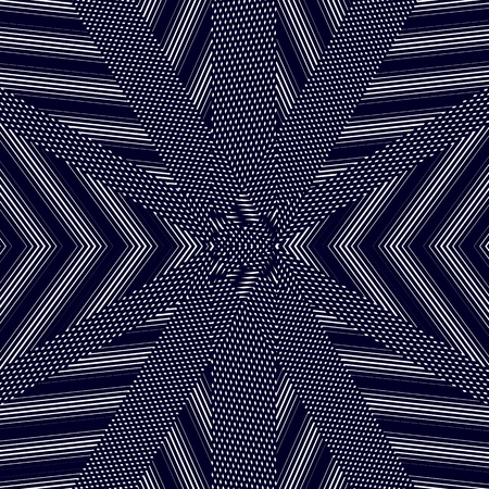 tiling: Moire pattern, op art vector background. Hypnotic backdrop with geometric black lines. Abstract tiling. Illustration