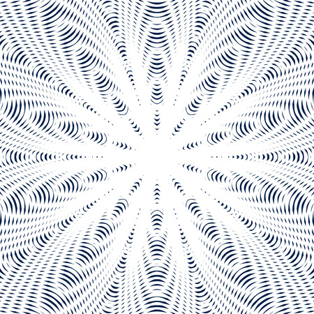 tiling: Optical illusion, moire background, abstract lined monochrome tiling. Unusual vector geometric pattern with visual effects.