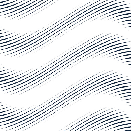 meditative: Optical illusion, moire background, abstract lined monochrome vector tiling. Unusual geometric pattern with visual effects. Illustration