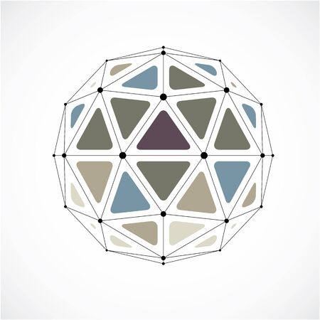 gray netting: Abstract vector low poly object with black lines and dots connected. 3d origami futuristic form with black overlapping lines mesh.