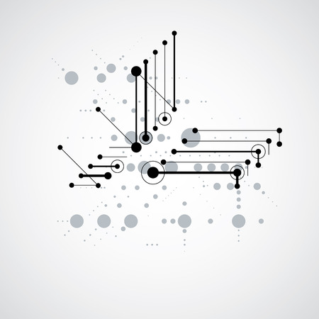 overlie: Modular Bauhaus monochrome vector background, created from simple geometric figures like circles and lines. Best for use as advertising poster or banner design.