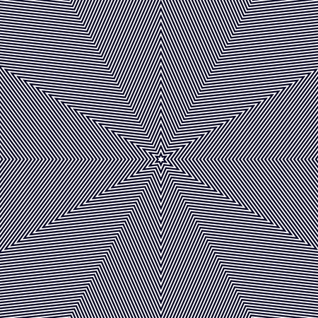 op art: Moire pattern, op art vector background. Hypnotic backdrop with geometric black lines. Abstract tiling. Illustration