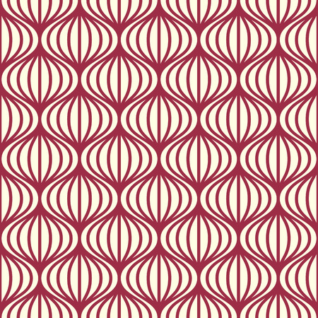 undulate: Vector seamless pattern, graphic geometric wrapping paper. Abstract backdrop created with interweave undulate lines and circles can be used in textile and web designs