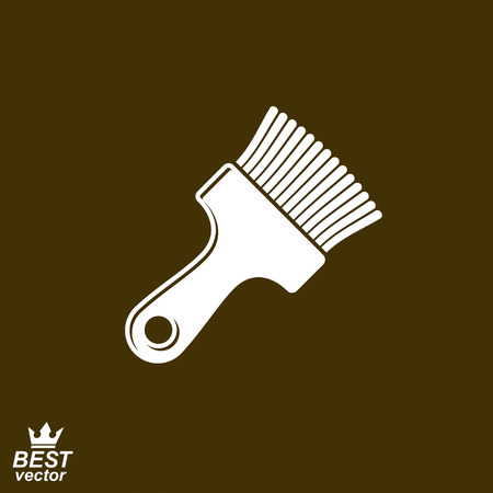 whitewash: Stylized vector repair instrument ? simple paint brush for whitewash. Industry tool.