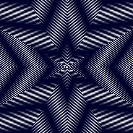 moire: Optical illusion, moire background, abstract lined monochrome tiling. Unusual vector geometric pattern with visual effects.