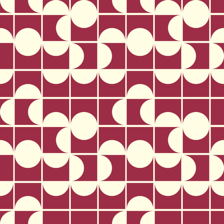 cor: Vector abstract seamless composition best for use as wrapping paper, symmetric ornate background created with simple geometric shapes, circles.