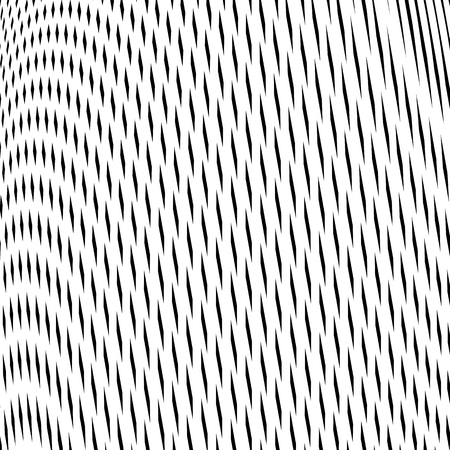 lined: Optical illusion, creative black and white graphic moire backdrop. Decorative lined hypnotic contrast vector background. Illustration