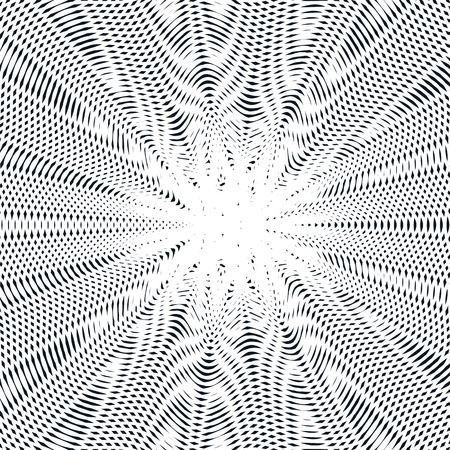 hypnotic: Decorative lined hypnotic contrast background. Optical illusion, creative black and white graphic moire backdrop.