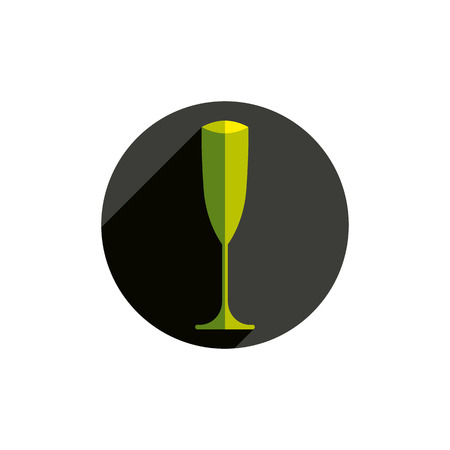sophisticated: HoReCa graphic element, sophisticated champagne glass. Alcohol theme conceptual symbol, for use in advertising. Illustration