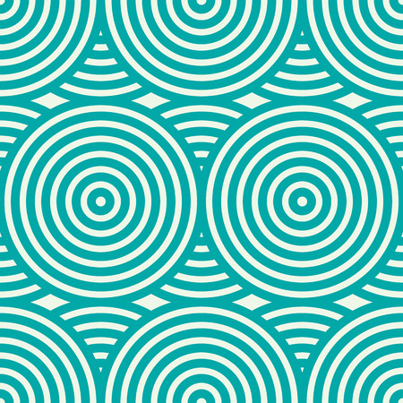 undulate: Green vector endless pattern created with thin undulate stripes and circles, seamless composition. Continuous interlace texture can be used as website background and as wrapping paper. Illustration