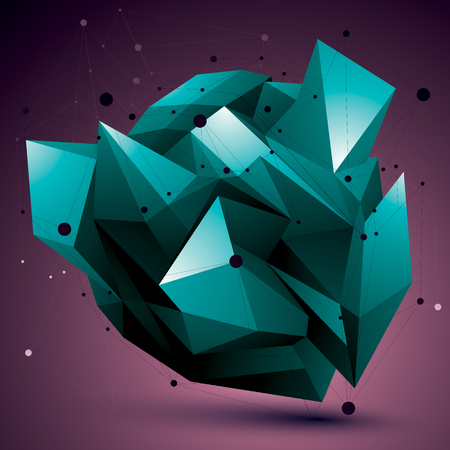 complicated: Colorful complicated 3d figure, modern digital technology style form. Abstract unusual background.